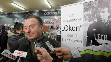 Mirosław Okoński podczas premiery książki Okoń