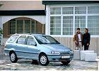 FIAT Palio Weekend 97-02, rok produkcji 1998, kombi, widok przedni prawy, samoch�d 5-drzwiowy, kolor niebieski jasny