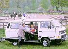 VOLKSWAGEN Transporter, rok produkcji 1990,  widok przedni prawy, samoch�d 4-drzwiowy, kolor bia�y