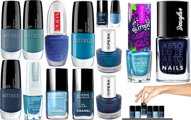 Niebieskie lakiery do paznokci - idealne na wiosn�!