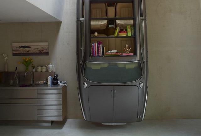 Duńskie studio stylistyczne Denieuwegeneratie zrobiło mebel z Jaguara XJ
