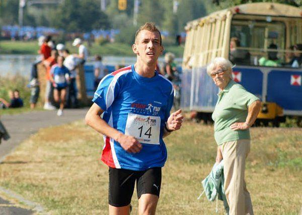 Maciej Łucyk na biegu InterRun