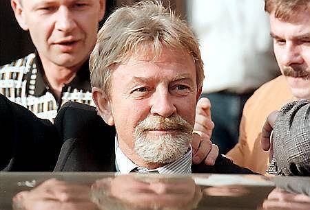 Ryszard Kukliński w Krakowie w 1998 roku