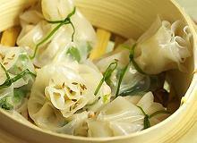 Ryżowe sakiewki z krewetkami - ugotuj