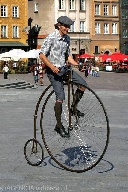 Klasyczne bicykle nie posiadają łańcucha.