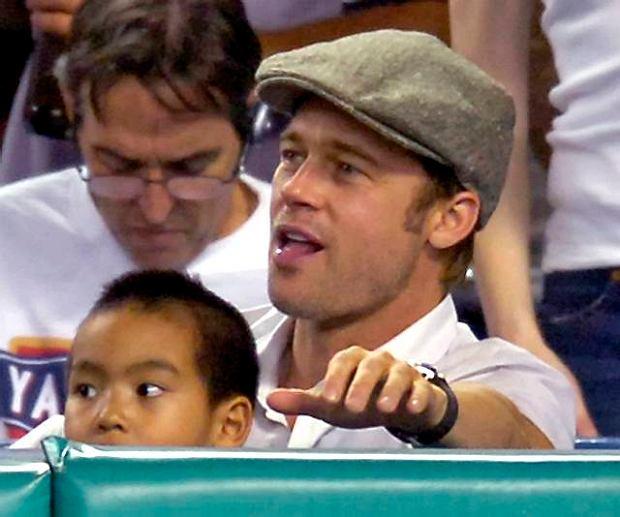 Brad: nie ma to jak meczyk z synem