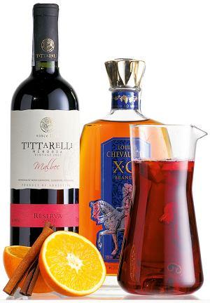 Grzane wino wzmocnione z cytrusami