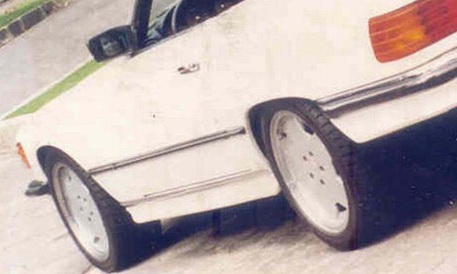 Duch w lusterku samochodu - zdjęcie