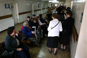 Obl�enie w rejestracji Szpitala Biela�skiego
