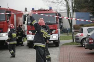 Zabrze: eksplozja na stacji kontroli pojazd�w. Dw�ch pracownik�w trafi�o do szpitala