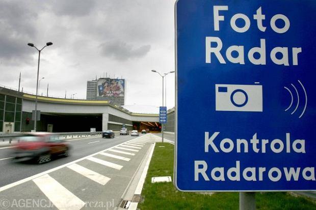 10.04.2007 KATOWICE TUNEL DTS DROGOWA TRASA SREDNICOWA FOTO RADAR KONTROLA RADAROWA  FOT . MARCIN TOMALKA /  AGENCJA GAZETA