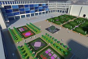 Pomysł na ogród przy Salonie Warszawy - zobacz projekt