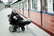 Marek Sołtys ze swoim  psem Spajkiem