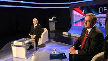 Jarosław Kaczyński i Bronisław Komorowski w TVP