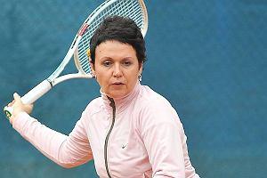 Ma�gorzata Pie�kowska gra w tenisa