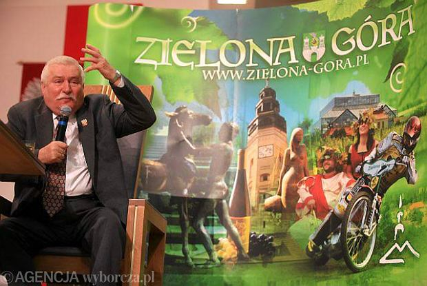 Lech Wałęsa honorowym obywatelem Zielonej Góry