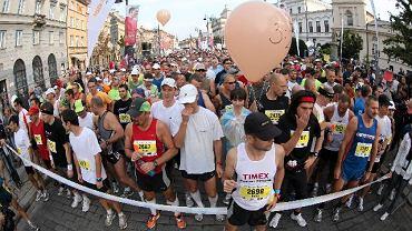 32. Maraton Warszawski. Zawodnicy tuż przed startem