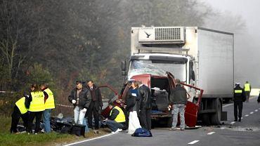 Wypadek busa w Nowym Mieście nad Pilicą