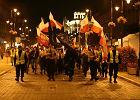 Warszawa. 11 listopada 2008 r. ONR w marszu Niepodległości na Krakowskim Przedmieściu