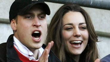 Książę William wraz z Kate Middleton kibicują Anglii podczas meczu rugby z Włochami