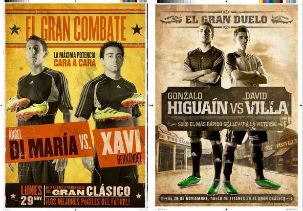 Przed Gran Derbi: Angel di Maria i Xavi; Gonzalo Higuain i David Villa