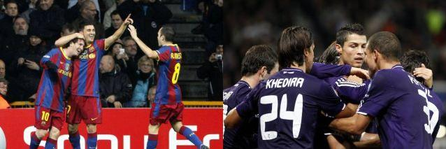 Barcelona's Lionel Messi (L) celebrates with team mates David Villa (C) and Andres Iniesta a goal against Copenhagen during their Champions League Group D match at Parken stadium in Copenhagen November 2, 2010.         REUTERS/Bob Strong (DENMARK  - Tags: SPORT SOCCER)