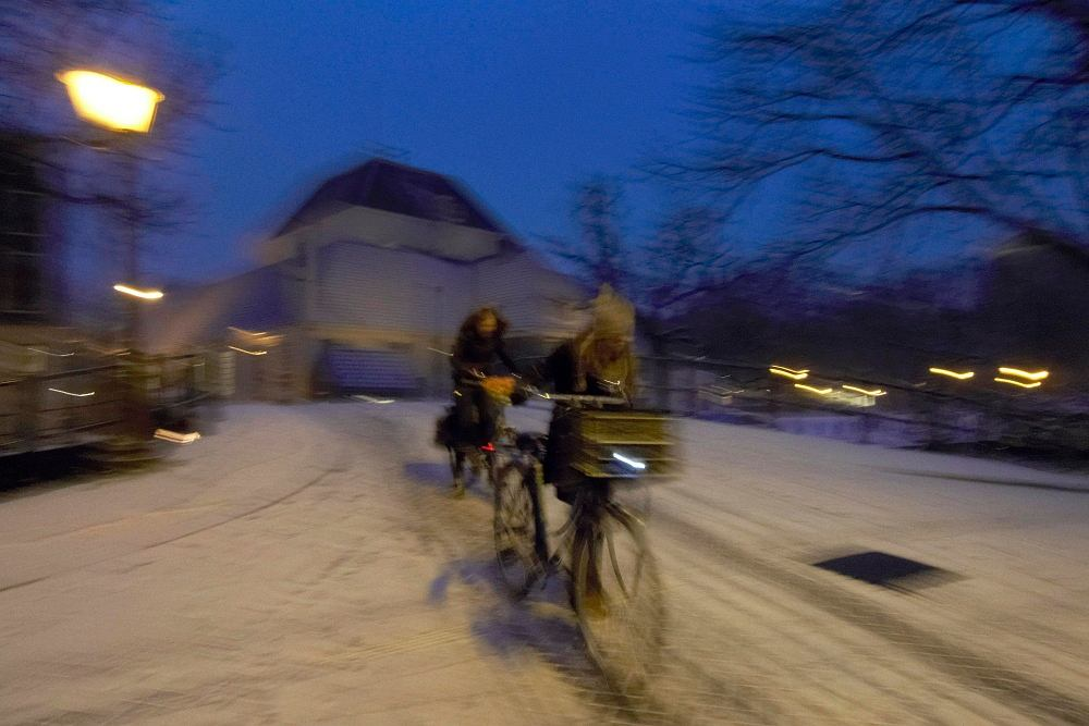 Zima na rowerze, Amsterdam