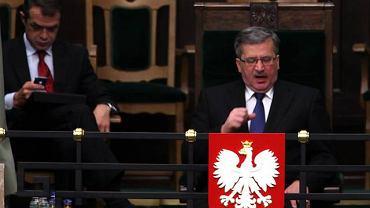Sławomir Nowak i Bronisław Komorowski w Sejmie
