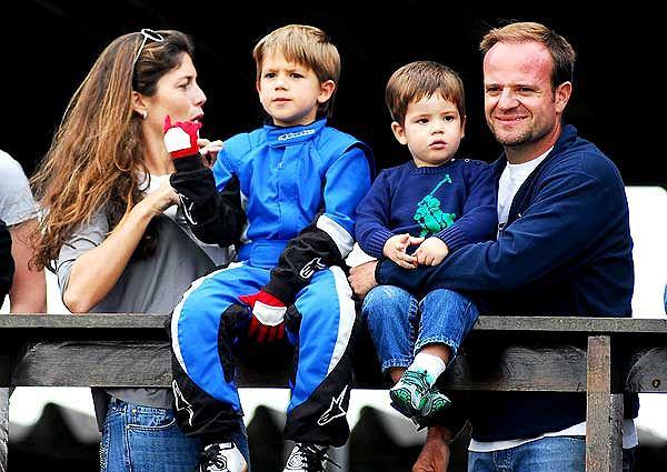 Rubens Barrichello z rodziną