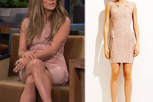 Z wybiegu: Jennifer Lopez w sukience Herve Leger