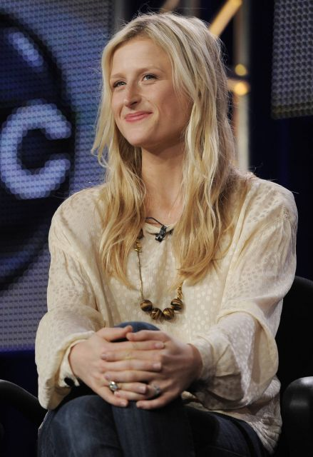 """Mamie Gummer, daugher of actress Meryl Streep and a cast member in the ABC series """"Off the Map,"""" is pictured during a panel discussion on the show at the Disney ABC Television Critics Association winter press tour in Pasadena, Calif., Monday, Jan. 10, 2011. (AP Photo/Chris Pizzello)"""
