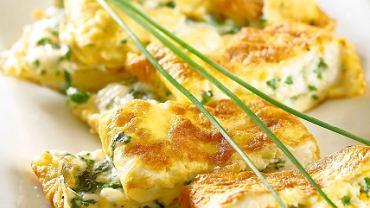 Omlet z twarożkiem wiejskim
