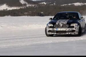 Nowe BMW M5 w po�lizgu