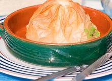Owoce morza w sakiewce z ciasta Fillo - ugotuj