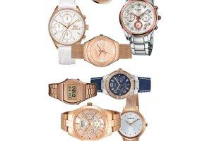 Damskie zegarki w r�owym odcieniu z�ota
