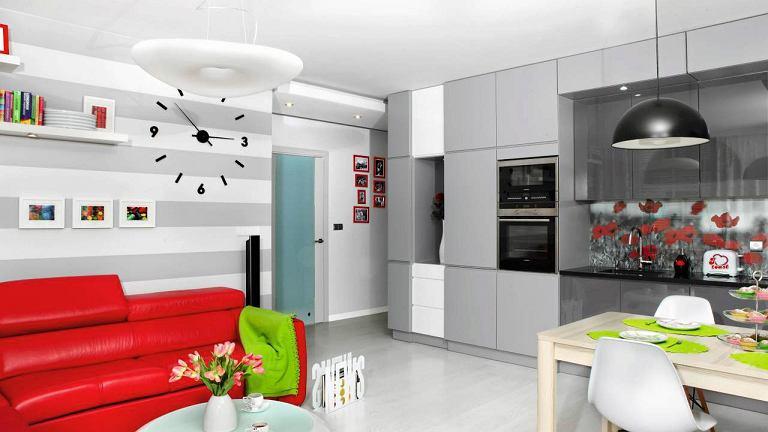 nowoczesny salon z aneksem kuchennym 17 pomys w na aran acj salonu z kuchni. Black Bedroom Furniture Sets. Home Design Ideas
