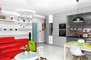 Nowoczesny salon z aneksem kuchennym. 17 pomys��w na aran�acj�
