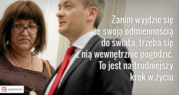 Anna Grodzka (l) i Robert Biedroń (p)