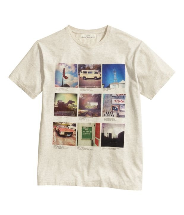 Koszulka z kolekcji H&M. Cena: 39,90 zł, moda męska, koszulki, h&m