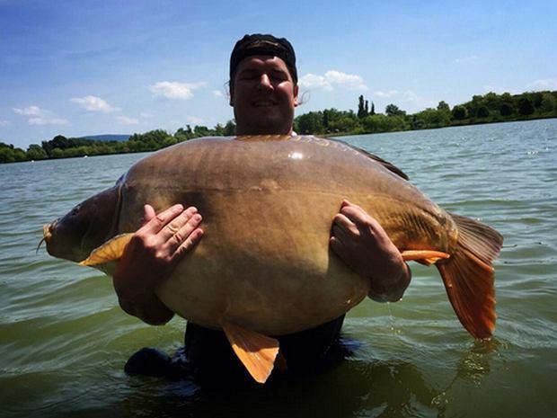 Poprzedni rekord świata, karp 47, 62 kg