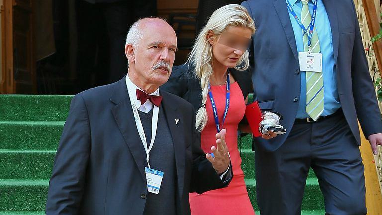 Janusz Korwin-Mikke z córką