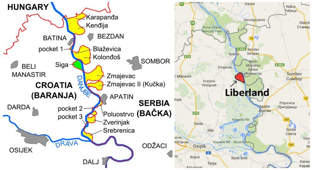 Liberland leży na niewielkim terytorium między Chorwacją a Serbią (fot. Liberland)