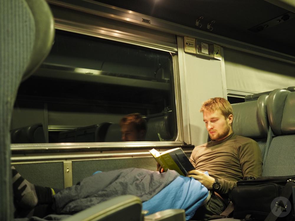 W pociągu Kolei Transkanadyjskiej
