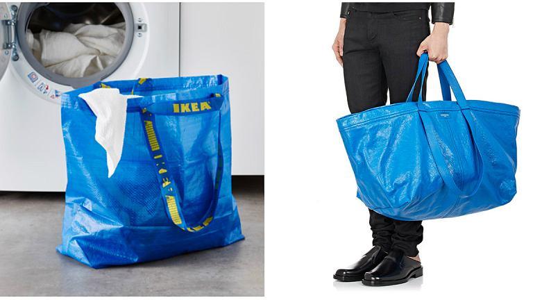 Ta torba Balenciaga wygląda jak torba Ikei. Jest tylko ponad cztery tysiące razy droższa