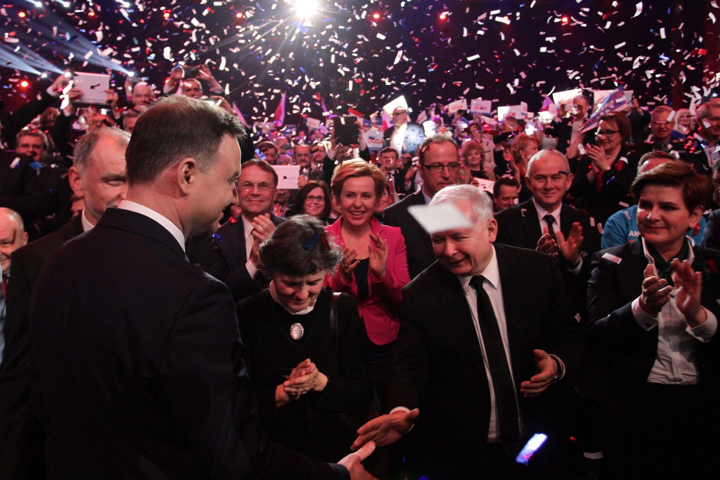 Andrzej Duda i Jarosław Kaczyński (fot. Sławomir Kamiński)