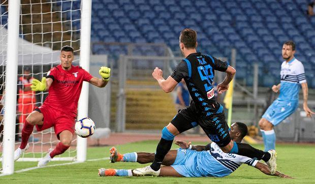 Arkadiusz Milik w trakcie meczu Napoli z Lazio