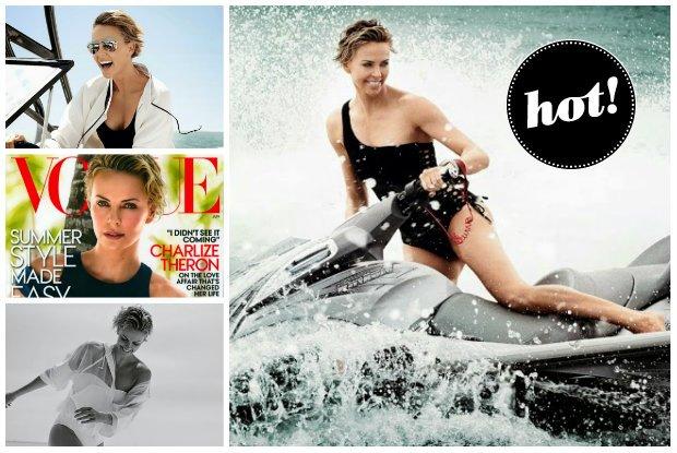"""Charlize Theron na sportowo w nowym """"VOGUE US"""" - jest promienna, seksowna i podobno bardzo szcz�liwa. Opowiada o nowej mi�o�ci, kt�ra odmieni�a jej �ycie [ZDJ�CIA]"""