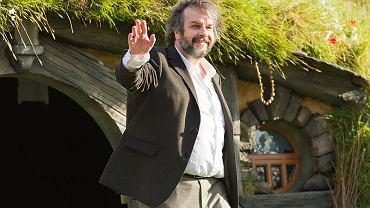 Peter Jackson podczas światowej premiery filmu 'Hobbit: niezwykła podróż' (2012)