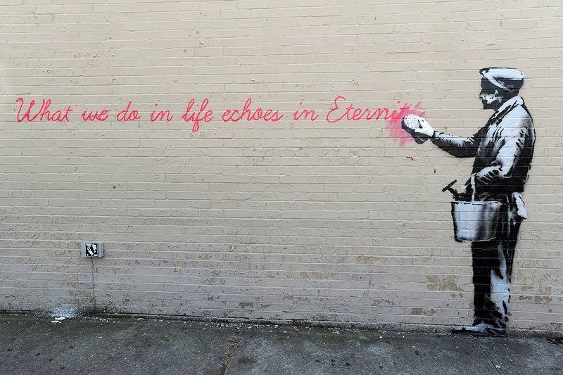 Zdjęcie numer 3 w galerii - Sztuka Banksy'ego na ulicach Nowego Jorku. Nowe i starsze prace [DUŻO ZDJĘĆ]