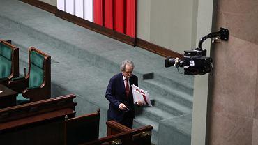 23.11.2017, przewodniczący Państwowej Komisji Wyborczej Wojciech Hermeliński podczas pierwszego czytania projektu zmian w ordynacji wyborczej.